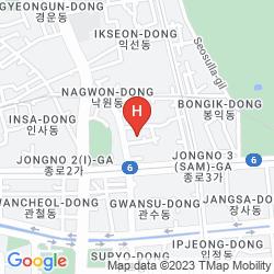 Mapa AMARE HOTEL JONGNO