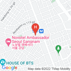 Mapa COSMOS HOTEL GANGNAM