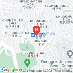 Mapa DAEHANJANG MOTEL MYEONGDONG