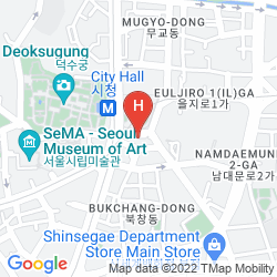 Mapa THE PLAZA HOTEL (FORMER SEOUL PLAZA)