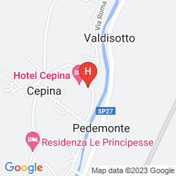 Mapa CEPINA ALBERGO INCANTATO