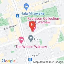 Mapa RADISSON COLLECTION HOTEL, WARSAW