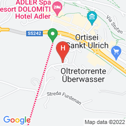 Mapa COUNTRY HOUSE DOLOMITI