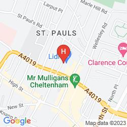Mapa HOLIDAY INN EXPRESS CHELTENHAM TOWN CENTRE