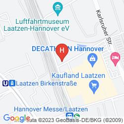 Mapa EXPOTEL HANNOVER