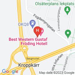 Mapa BEST WESTERN GUSTAF FRODING HOTEL & KONFERENS