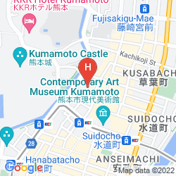 Mapa KUMAMOTO HOTEL CASTLE