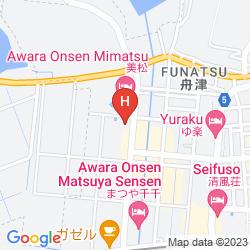 Mapa HOKURIKU AWARA ONSEN MIMATSU