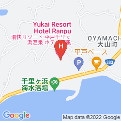 Mapa HIRADO SENRIGAHAMA ONSEN HOTEL RANPU
