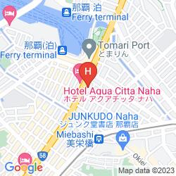 Mapa HOTEL ROUTE INN NAHA MAEJIMA