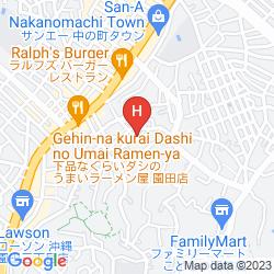 Mapa KUMEJIMA EEF BEACH HOTEL
