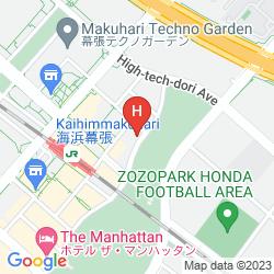 Mapa HOTEL SPRINGS MAKUHARI