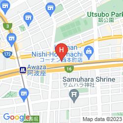 Mapa HOTEL ROUTE INN OSAKA HOMMACHI