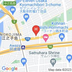 Mapa SUNLIFE OSAKA