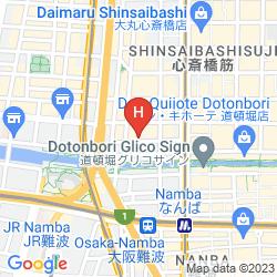 Mapa NEW OSAKA HOTEL SHINSAIBASHI