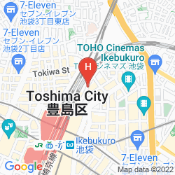 Mapa DAI-ICHI INN IKEBUKURO