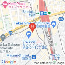 Mapa SUNROUTE PLAZA SHINJUKU