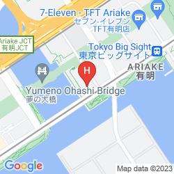 Mapa HOTEL TRUSTY TOKYO BAYSIDE