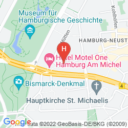 Mapa ADINA APARTMENT HOTEL HAMBURG MICHEL
