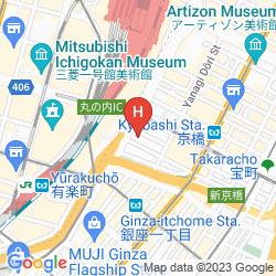 Mapa YAESU FUJIYA HOTEL