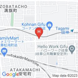 Mapa HIDATAKAYAMA FUTARI-SHIZUOKA HAKUUN