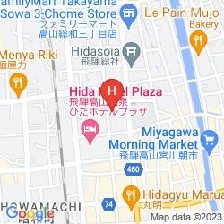 Mapa HODAKASO YAMANOIORI