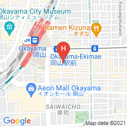 Mapa OKAYAMA WASHINGTON HOTEL PLAZA