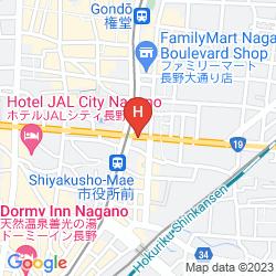 Mapa HOTEL METROPOLITAN NAGANO