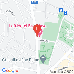 Mapa LOFT HOTEL BRATISLAVA