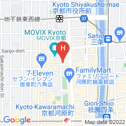 Mapa ARK HOTEL KYOTO