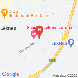 Mapa SCANDIC LEKNES LOFOTEN