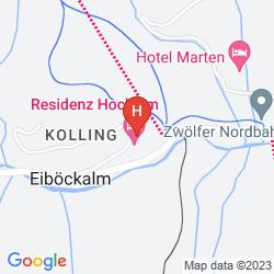 Mapa RESIDENZ HOCHALM