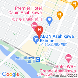 Mapa FUJITA KANKO WASHINGTON HOTEL ASAHIKAWA