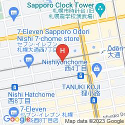 Mapa HOTEL RESOL TRINITY SAPPORO