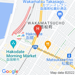 Mapa SMILE HOTEL HAKODATE