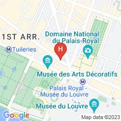Mapa DU LOUVRE - PARIS, A HYATT