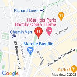 Mapa MARAIS BASTILLE