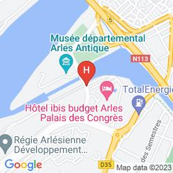 Mapa IBIS STYLES ARLES PALAIS DES CONGRÈS