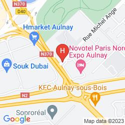 Mapa NOVOTEL PARIS NORD EXPO AULNAY
