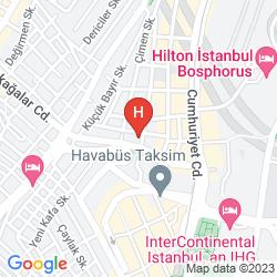 Mapa THE ELYSIUM ISTANBUL