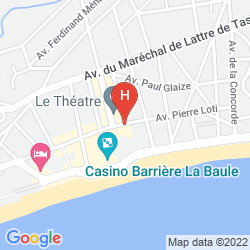 Mapa BARRIERE LE ROYAL LA BAULE