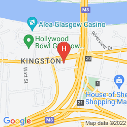 Mapa TRAVELODGE GLASGOW PAISLEY ROAD