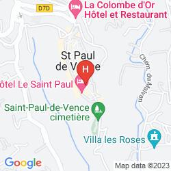 Mapa LE SAINT PAUL