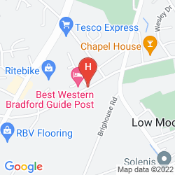 Mapa BEST WESTERN GUIDE POST HOTEL