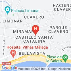 Mapa CASTILLO DE SANTA CATALINA