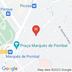 Mapa IBIS STYLES LISBOA CENTRO LIBERDADE NE HOTEL