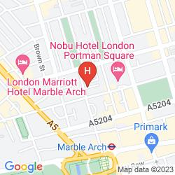 Mapa THE PRINCE AKATOKI LONDON