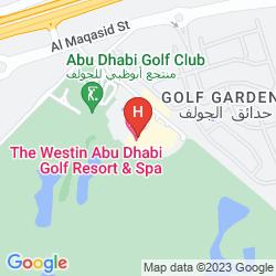 Mapa THE WESTIN ABU DHABI GOLF RESORT & SPA