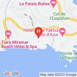 Mapa TIARA YAKTSA  CÔTE D'AZUR
