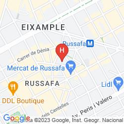 Mapa RUSSAFA YOUTH HOSTEL
